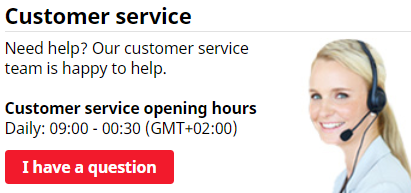 Live chat opening hours at Royal Panda