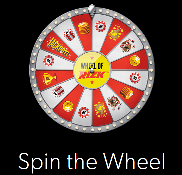 How the Wheel of Rizk looks like at Rizk