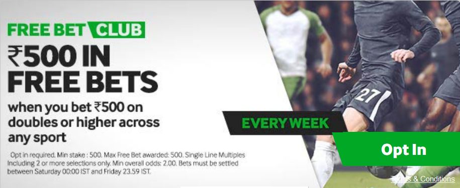 Betways great weekly free bet promotion.