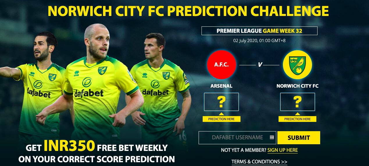 Dafabet Norwich Vs City FC Prediction